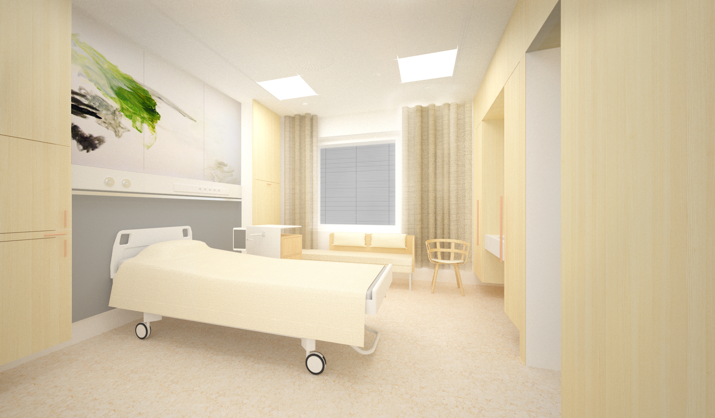 Kaisa Takala is currently designing the interior for Central Hospital in Jyväskylä, in central Finland. Courtesy JKMM Architects