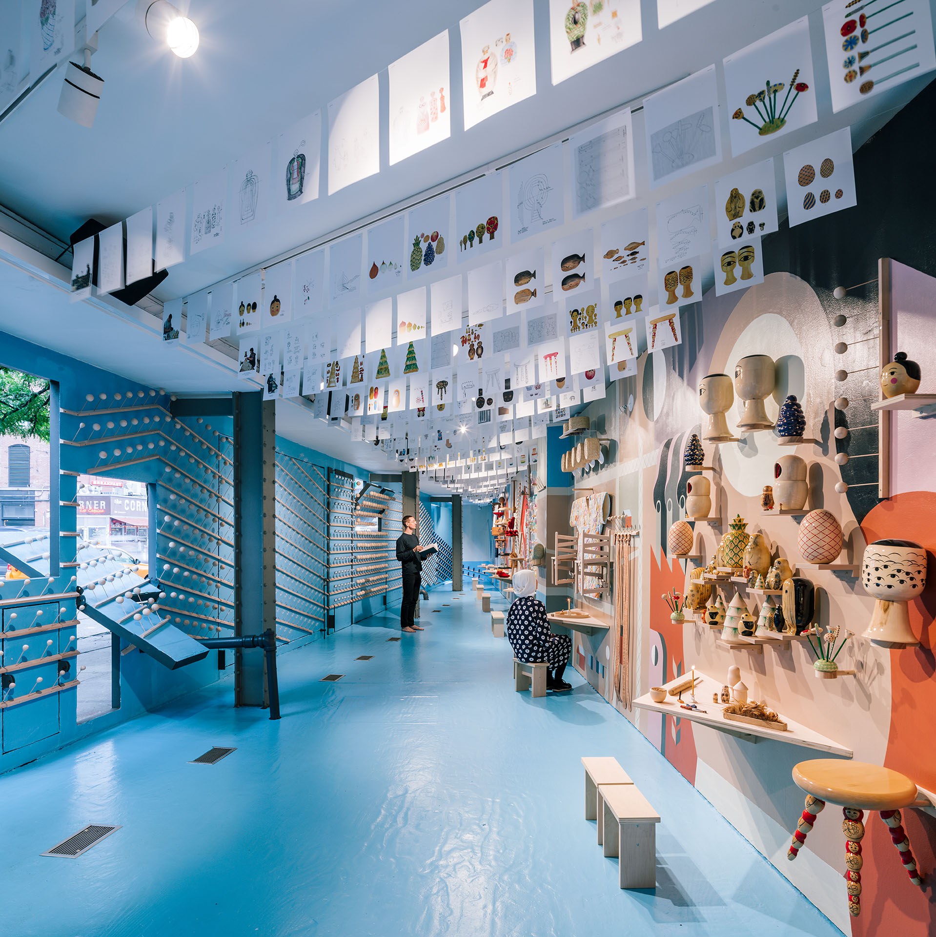 COMPANY's 'Temple of Manufacturing' at Storefront for Art and Architecture, 2017. Photography Imagen Subliminal (Miguel de Guzmán)