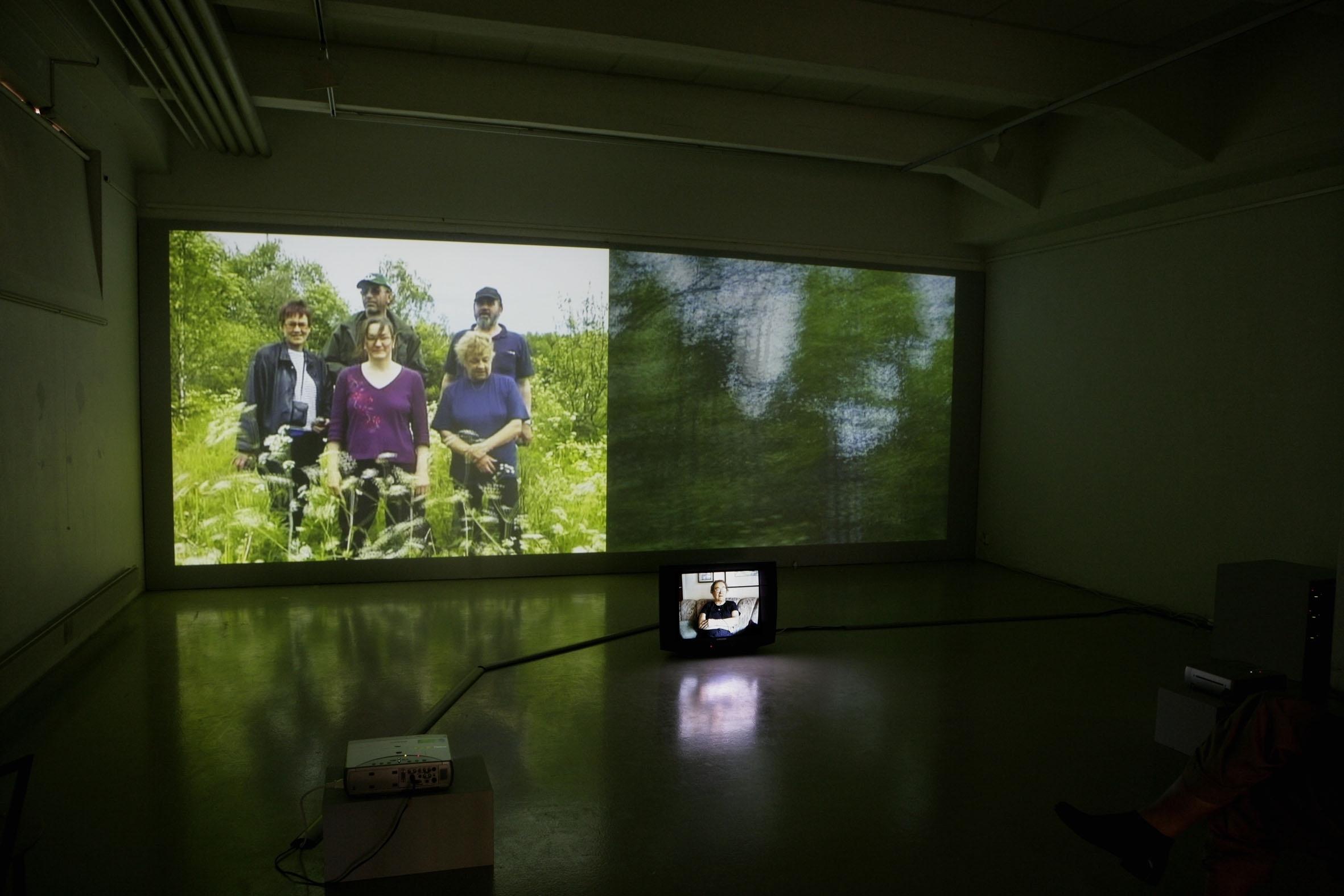 Installation view of  Irja's Story (2006) by Raakel Kuukka.