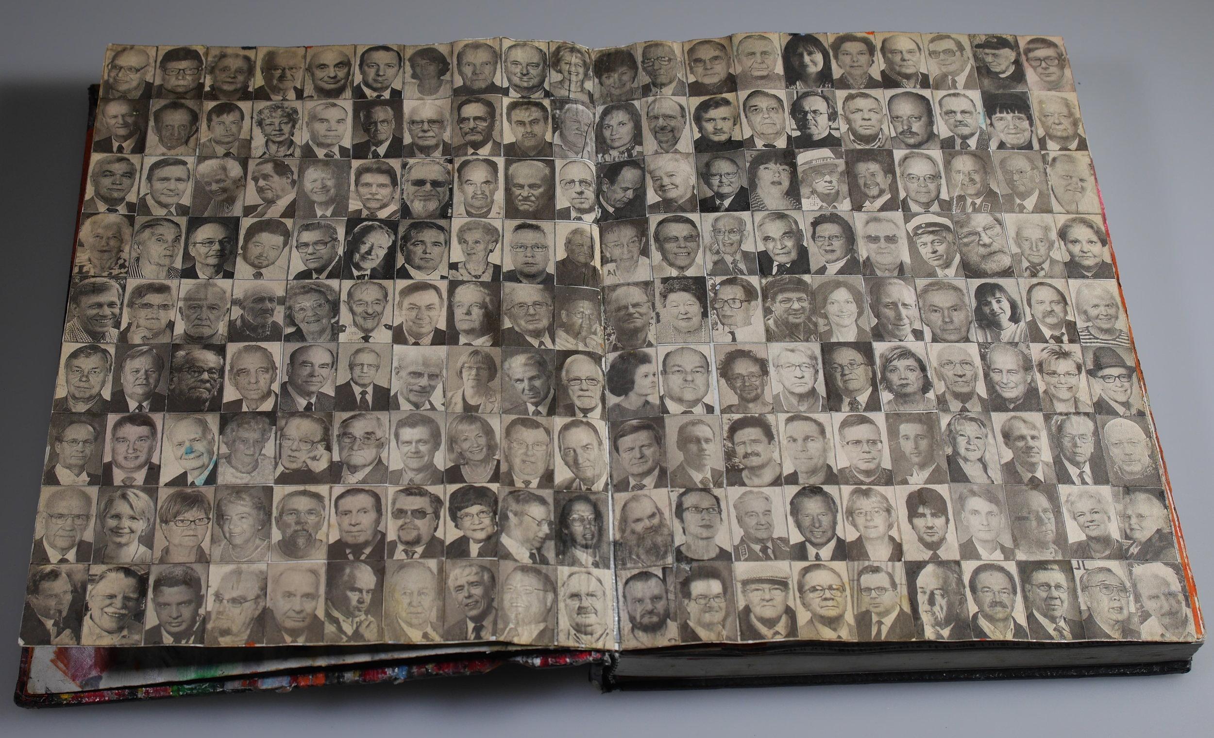 Untitled , spread from an artist book by Antti Nyyssölä