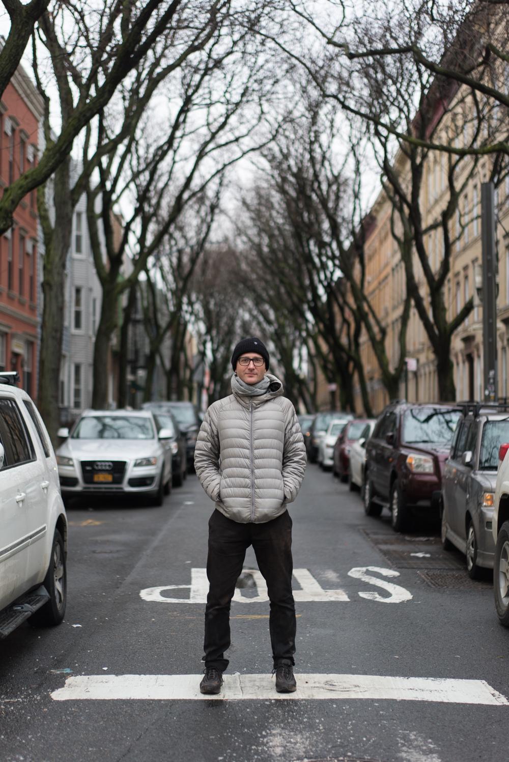 Johannes Auvinen in Greenpoint, Brooklyn.