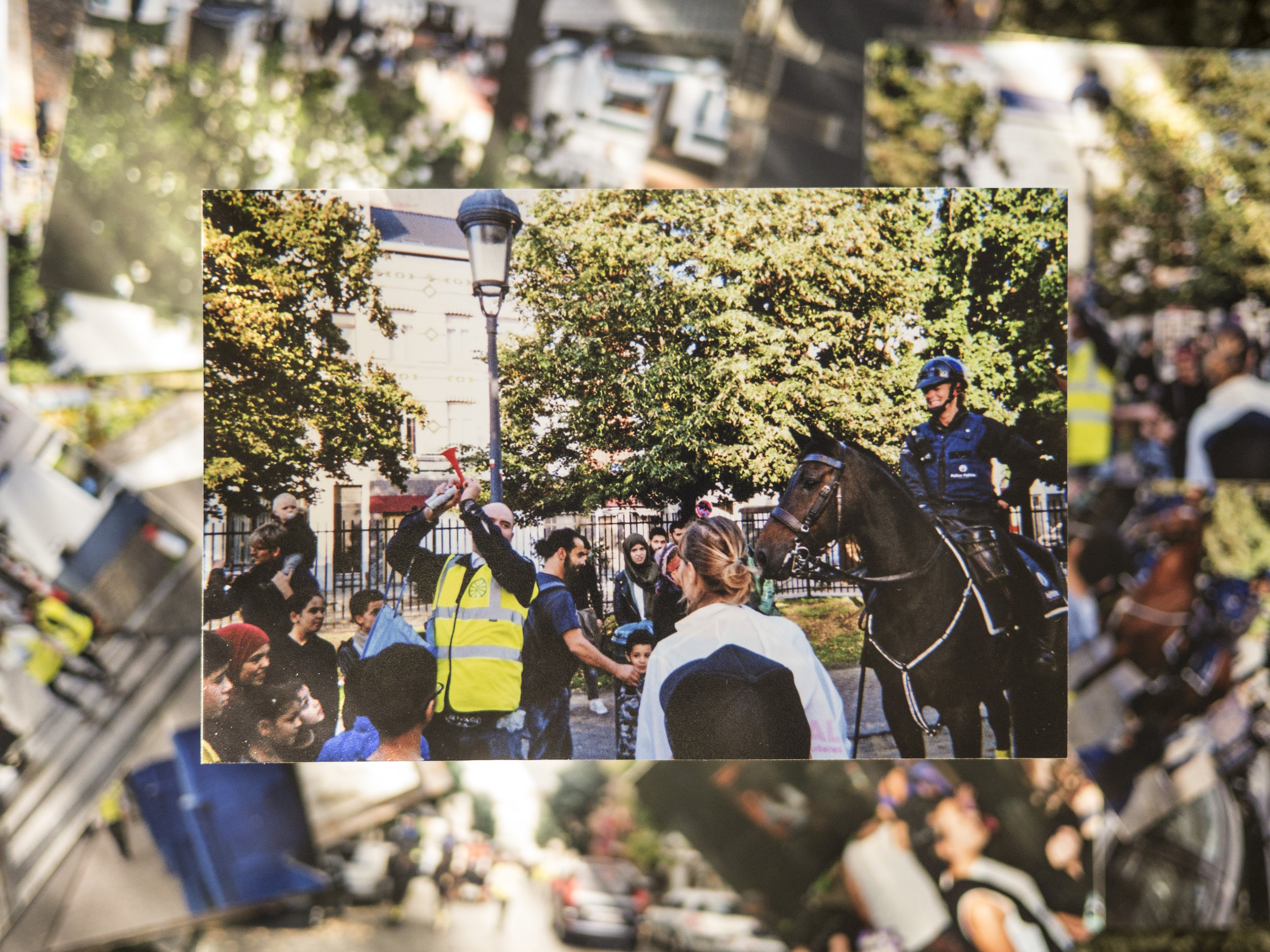 In 2017 Eero Yli-Vakkuri performed together with the Trans-Horse group at the Signal #6 festival (organised by CIFAS) in Brussels and collaborated with the Belgian Federal Police Mounted Unit. Image courtesy of the artist.