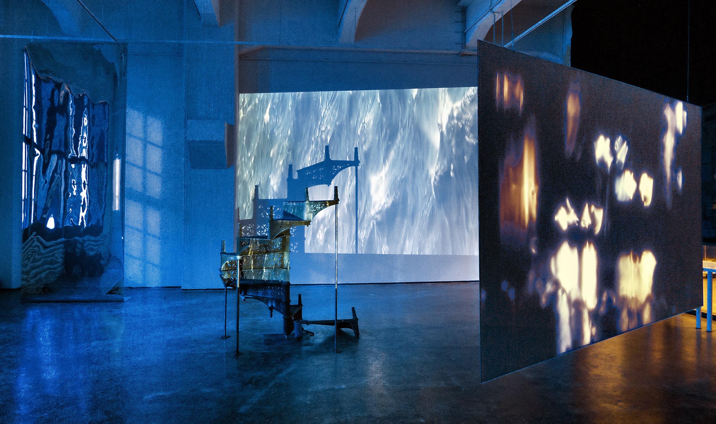 Rita Jokiranta,  Between Strength and Weakness , 2013, multi-channel video installation. Installation view.
