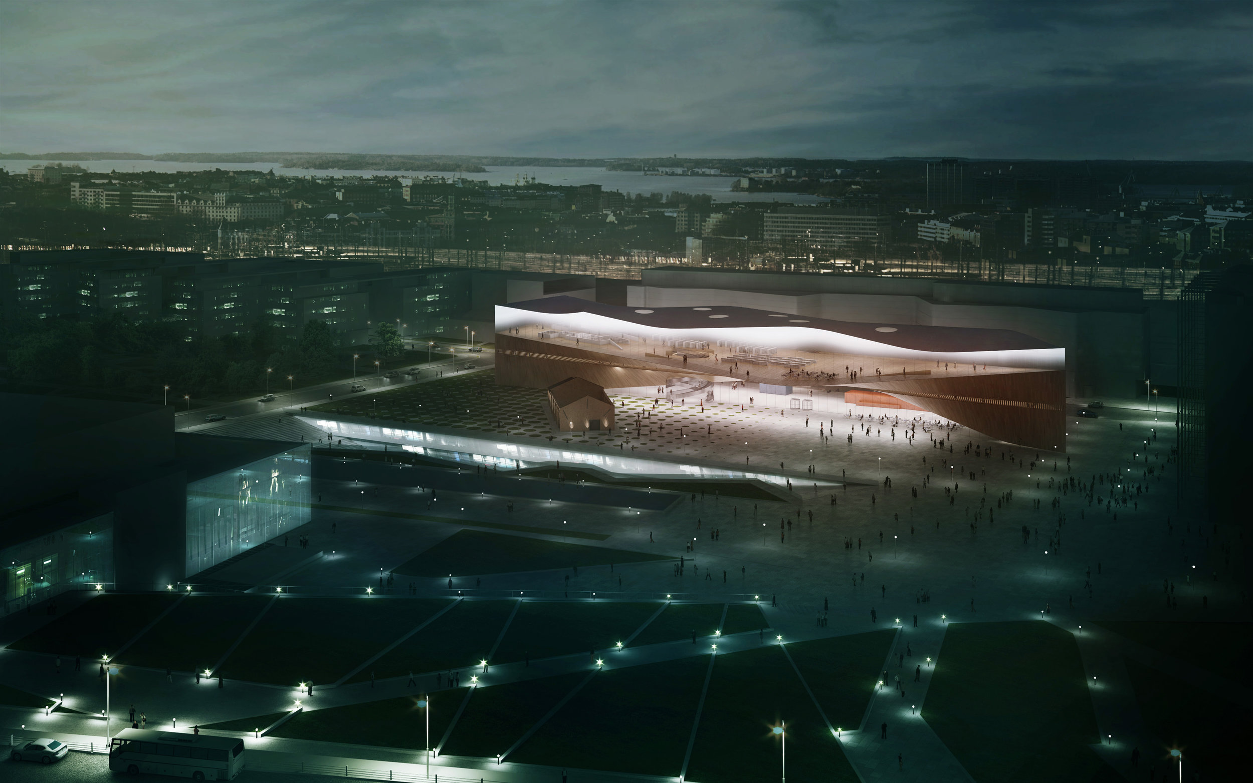 The new Central Library of Helsinki, Oodi, by ALA architects will opens its doors in December 2018.