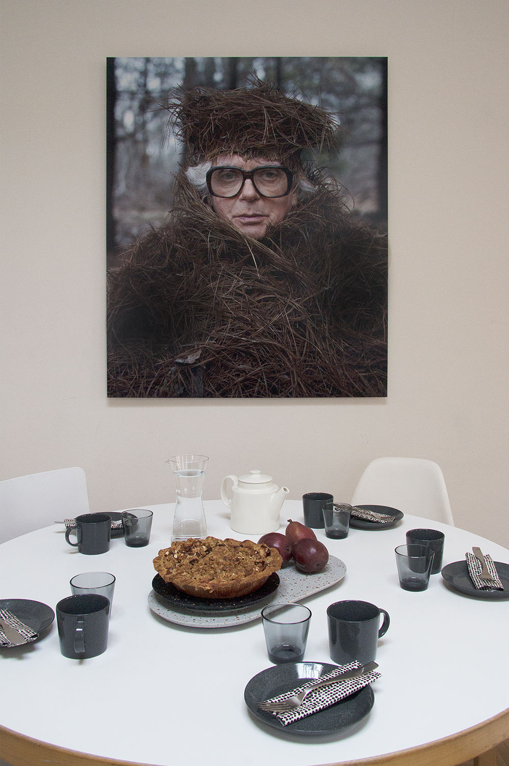 Riitta Ikonen's and Karoline Hjort's Bob watches our office. Iittala tableware from Finnish Design Shop and bespoke Durat pieces are aptly put into new use after our Zero Waste Bistro pop-up in May.