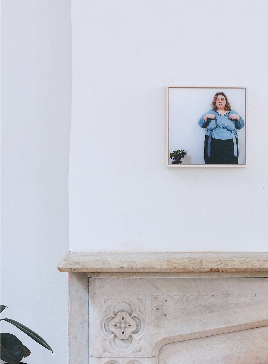 Above the mantelpiece hangs Finnish artist   Iiu Susiraja 's  self-portrait titled  Power Brokers  (2012), shot in her instantly recognizable humorous style. Susiraja recently attended a 6-month residency at the     ISCP   in New York, and this year her works have been featured in solo exhibitions both in NY and LA and a group exhibition at the  Meredith Rosen Gallery  in New York.