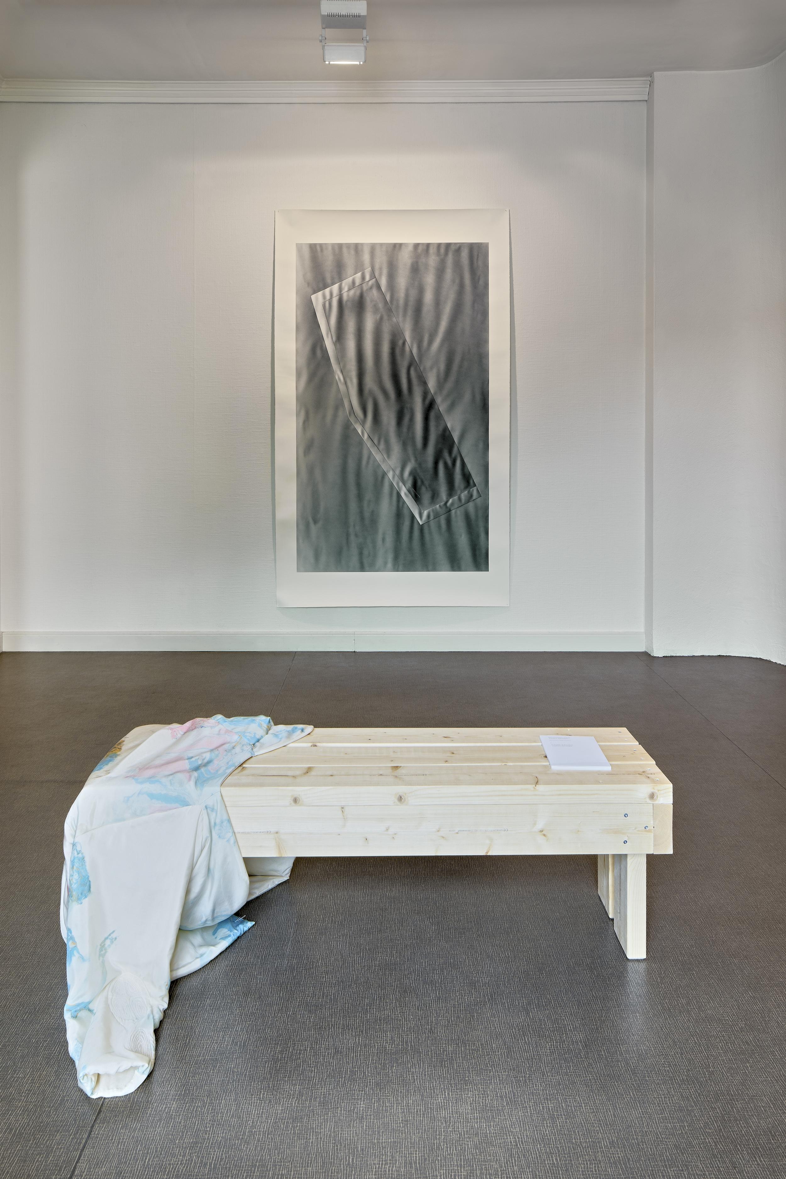 Maija Luutonen,  Still , textile, acrylic on paper, acrylic and ink on paper, 2019. Photo: Titus Verhe