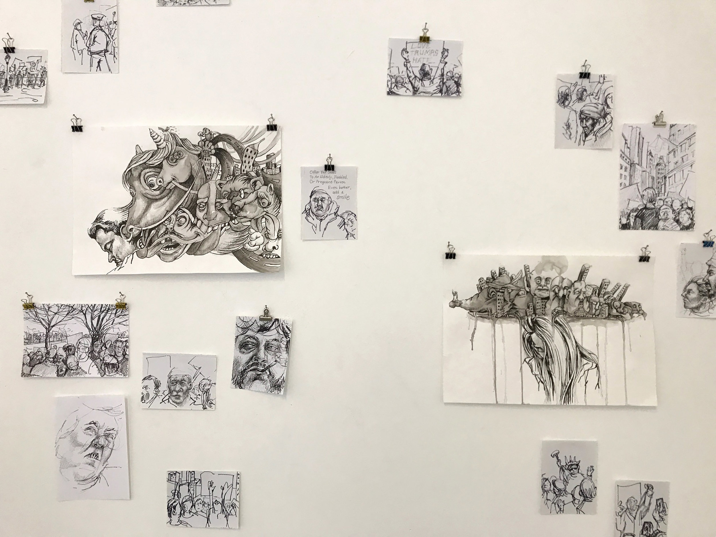 Sketches by Eeva Honkanen.