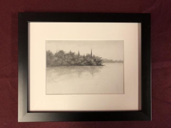Item #30: 'King's Point' framed art