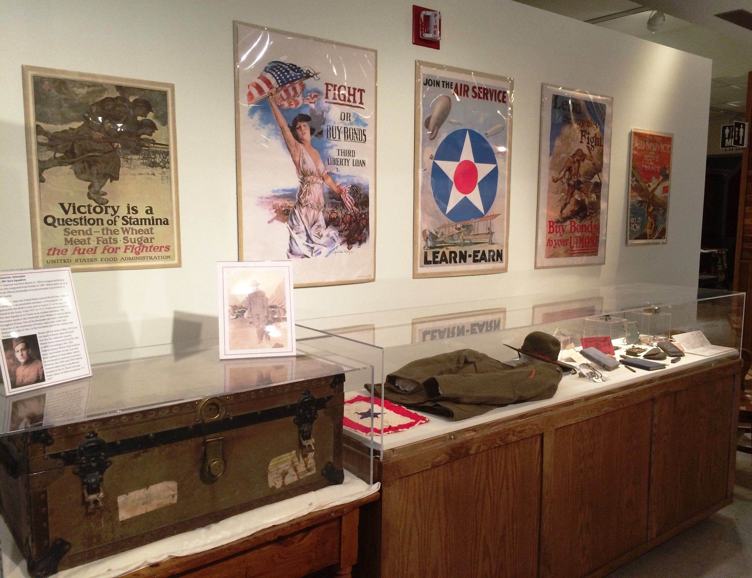 Wright County WWI exhibit Isaacson case.JPG