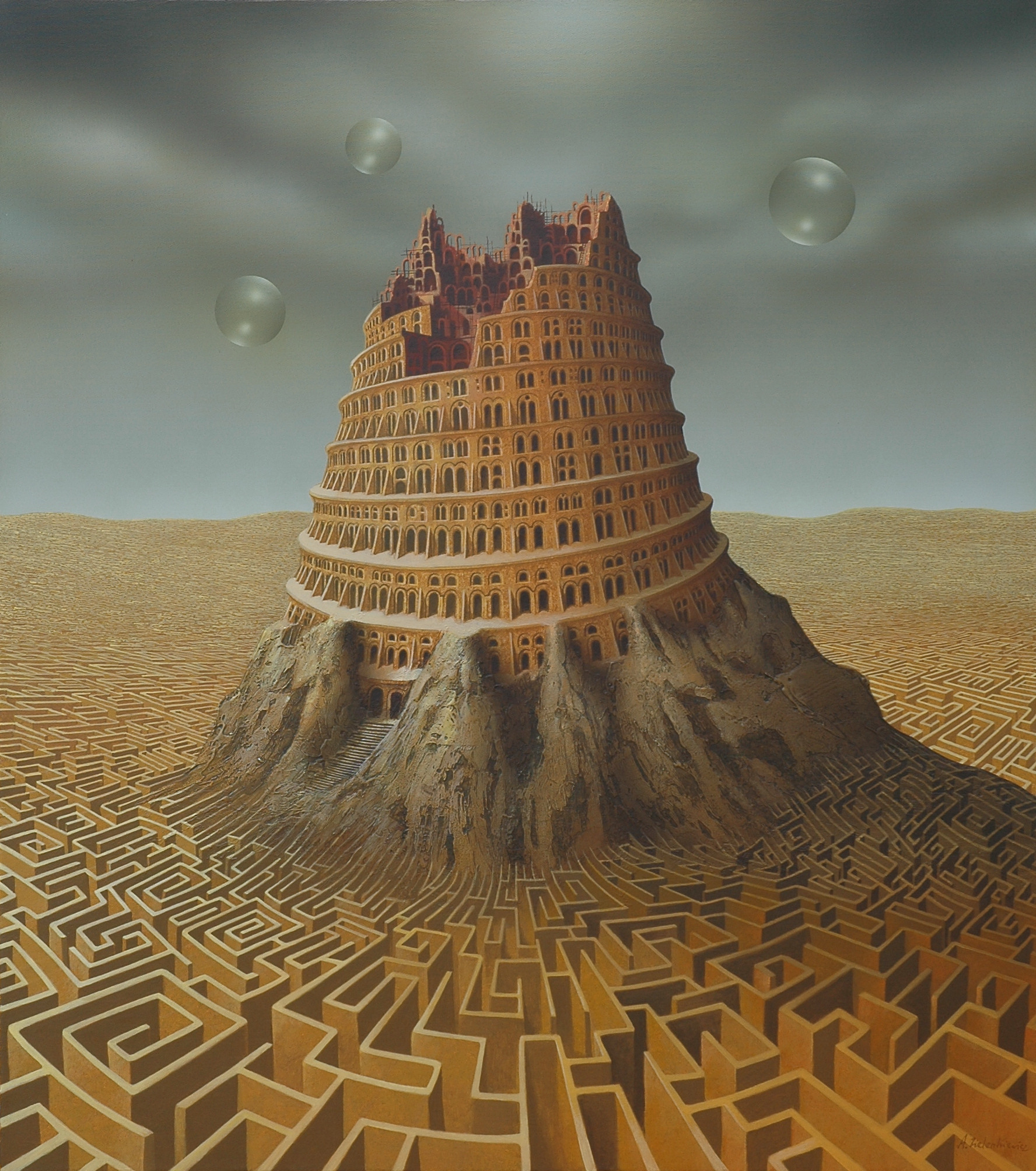 """CLICK on this picture. What is this MAZE of semantics ultimately keeping us from seeing at the center of who we are? Very often, the answer is """"Ornate, rigid, towering structures of religiosity""""."""