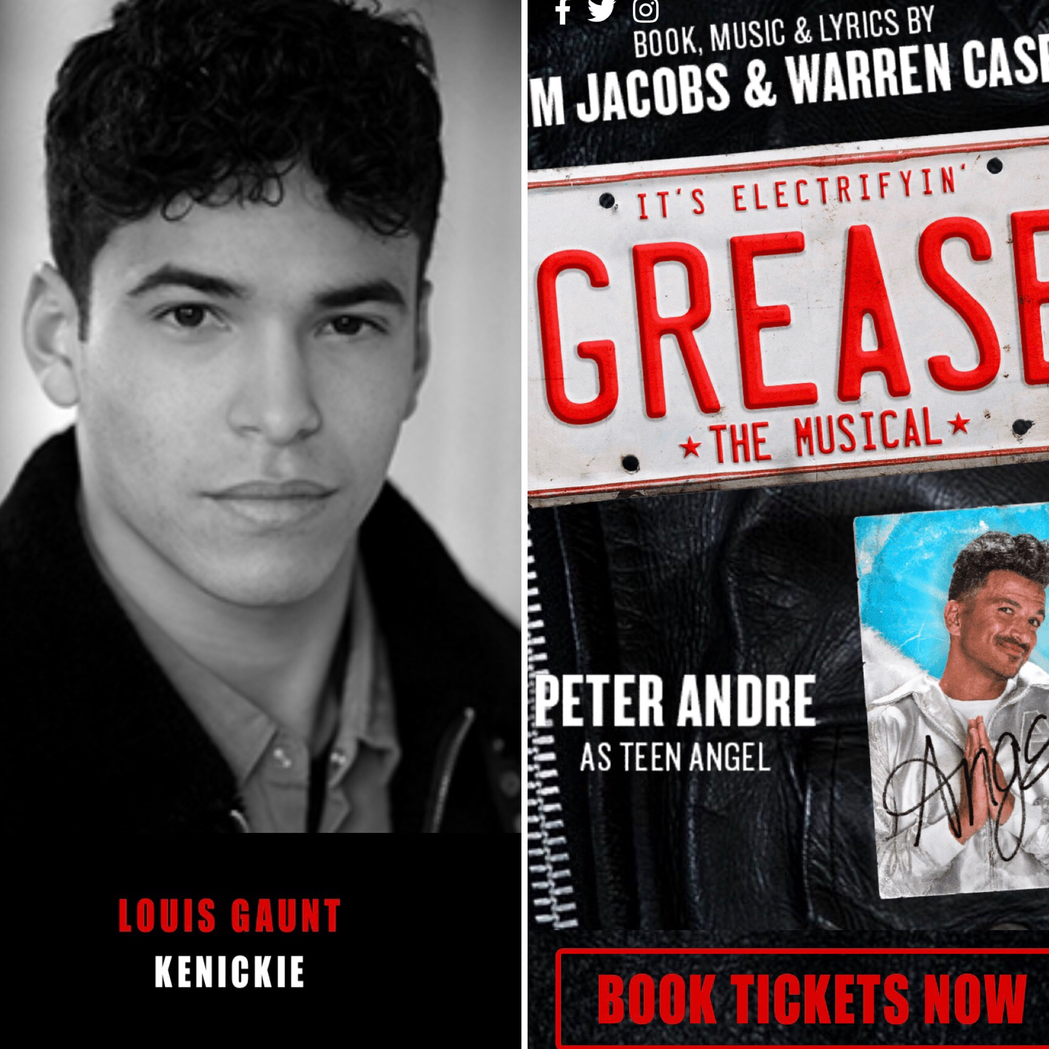 Ex-student and Ruddington home grown talent Louis Gaunt is currently touring the UK in Grease the Musical (choreographed by Arlene Phillips) playing the role of Kenickie alongside Peter Andre. A fantastic achievement for a local boy.