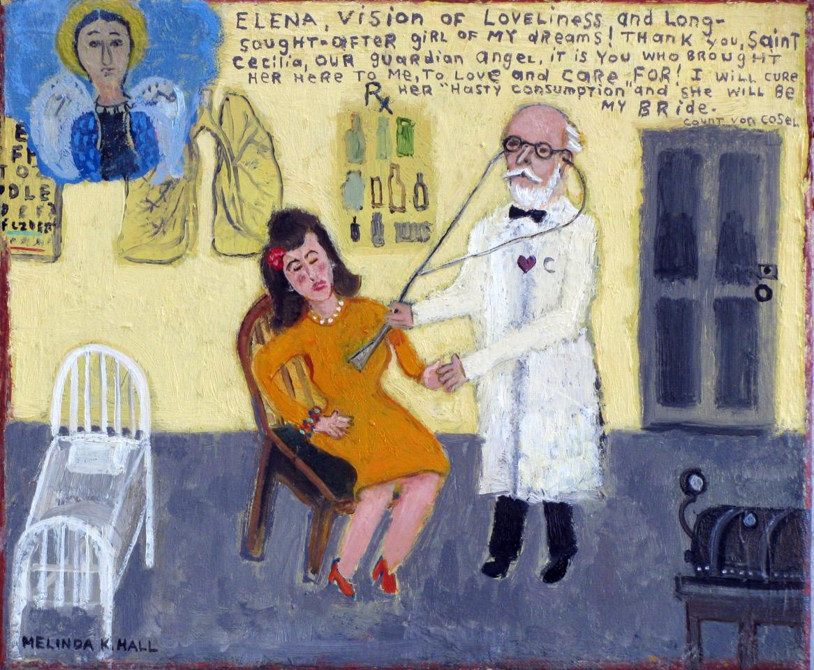 "Melinda K. Hall, ""A Love Possessed: #1 The Meeting"", 11"" x 13"""