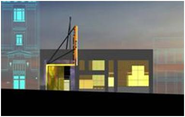 Image of the Erickson Theatre Off Broadway as designed by LMN Architects.