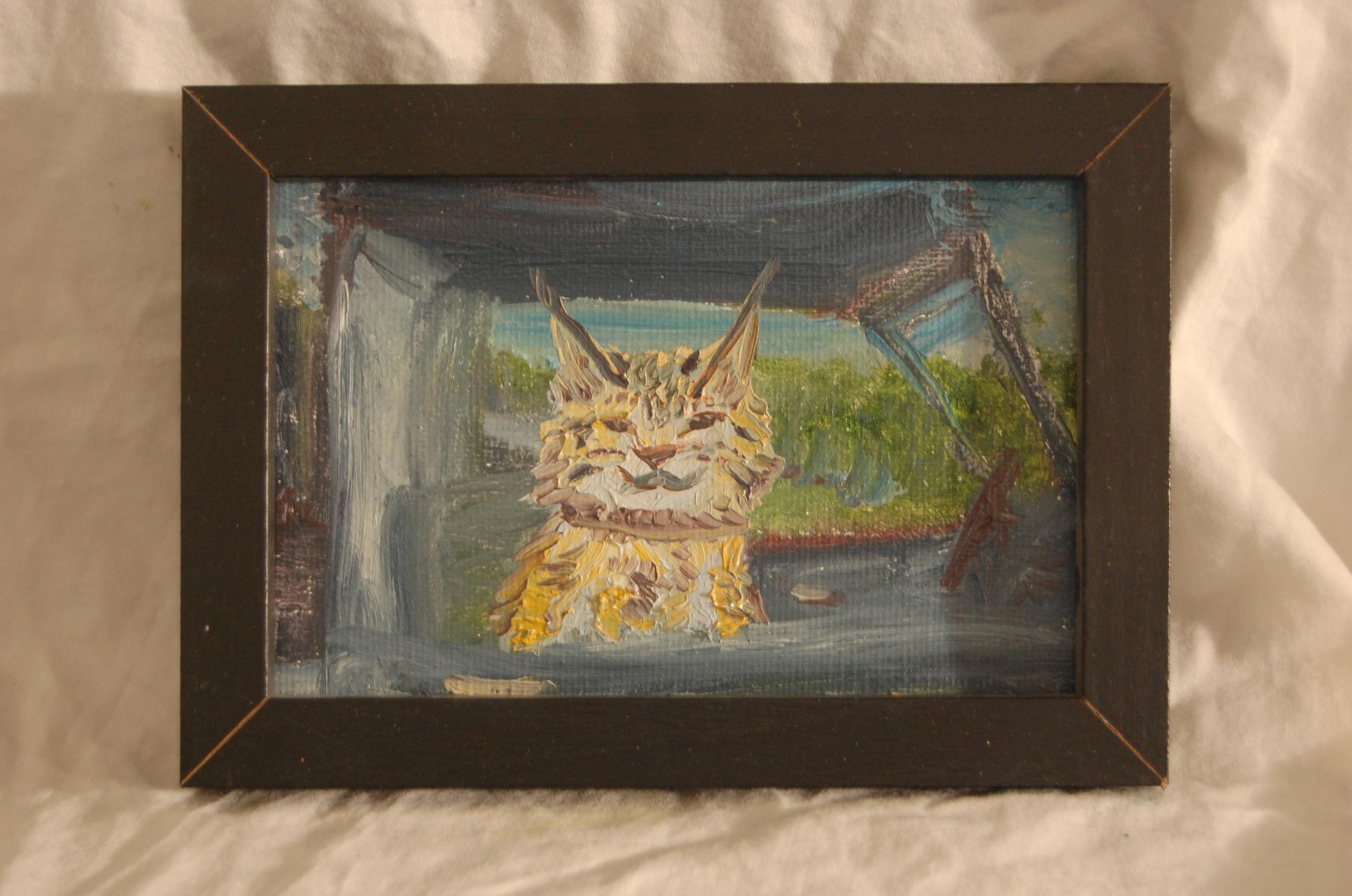 Mokave  Oil on Canvas  4 x 6  Black Frame