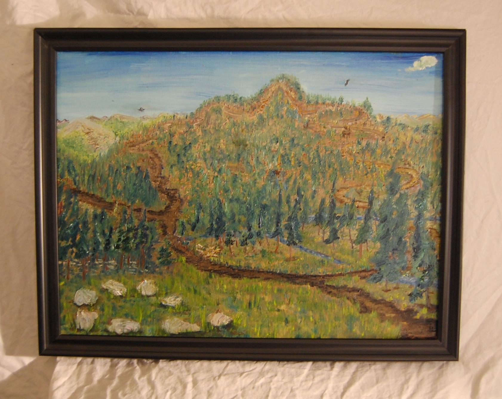East Mountain  Oil on canvas  18 x 24  Black frame