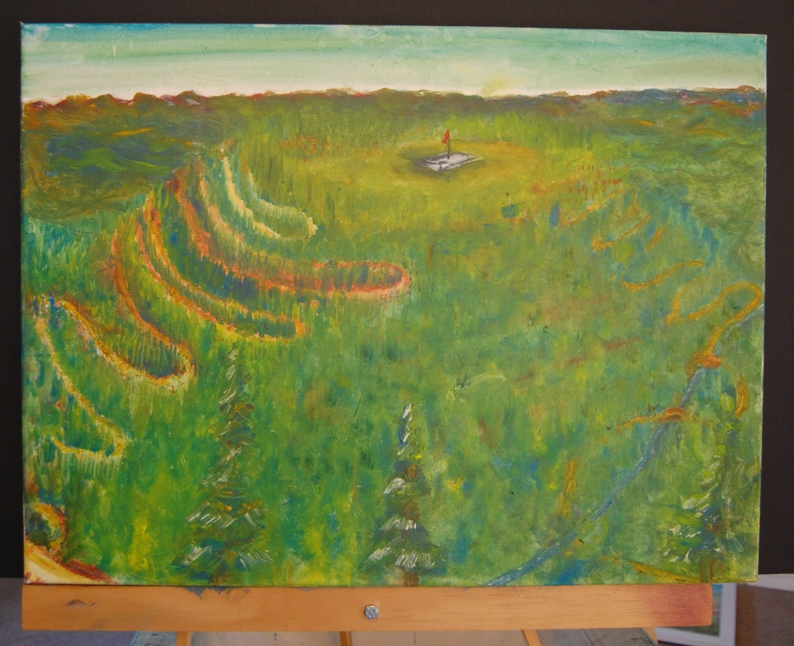 East Mountain  Oil on canvas  18x24
