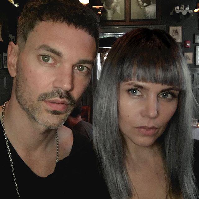 People are always asking what do we look like... We thought a selfie with fresh cuts and color would be a perfect time to pull the curtain. Cuts - @hairdemarco Color - @thehairstylish