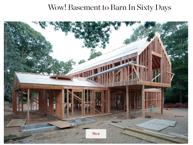 Wow! Basement to Barn in Sixty Days Apartment Therapy (August 2016)