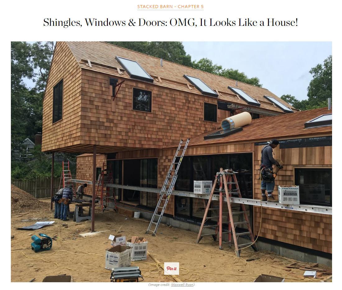 Shingles, Windows & Doors: OMG, It Looks Like A House! Apartment Therapy (September 2016)