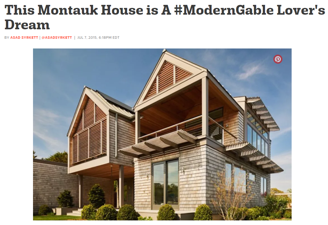 This Montauk House is a #ModernGable Lover's Dream Curbed (July 2015)