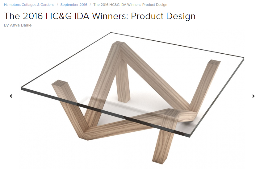 The 2016 HC&G IDA Winners: Product Design Hamptons Cottages & Gardens (September 2016)