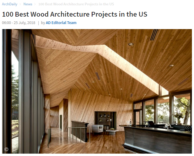 100 Best Wood Architecture Projects in the US ArchDaily (July 2018)
