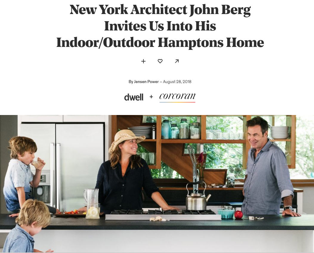 New York Architect John Berg Invites Us Into His Indoor/Outdoor Hamptons Home  Dwell (August 2018)
