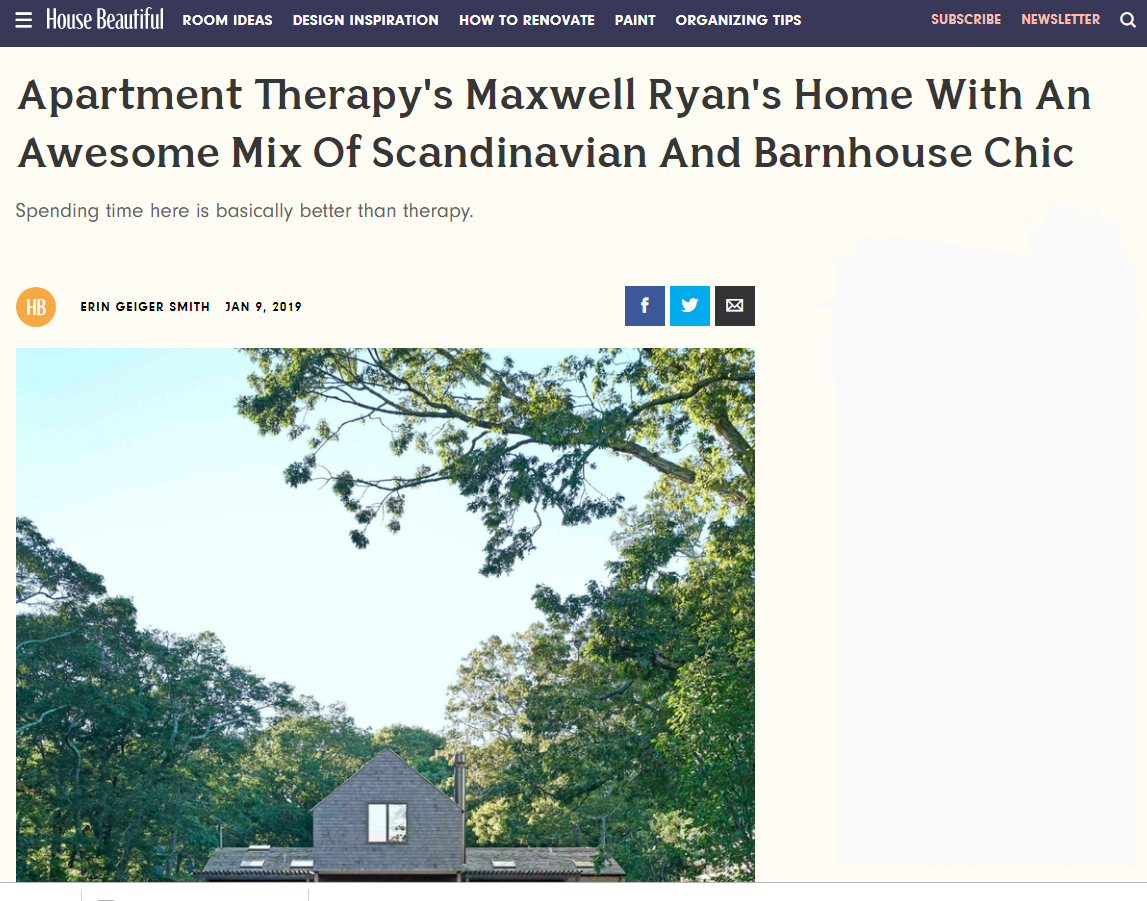 Apartment Therapy's Maxwell Ryan's Home With An Awesome Mix Of Scandinavian And Barnhouse Chic  House Beautiful (January / February 2019)