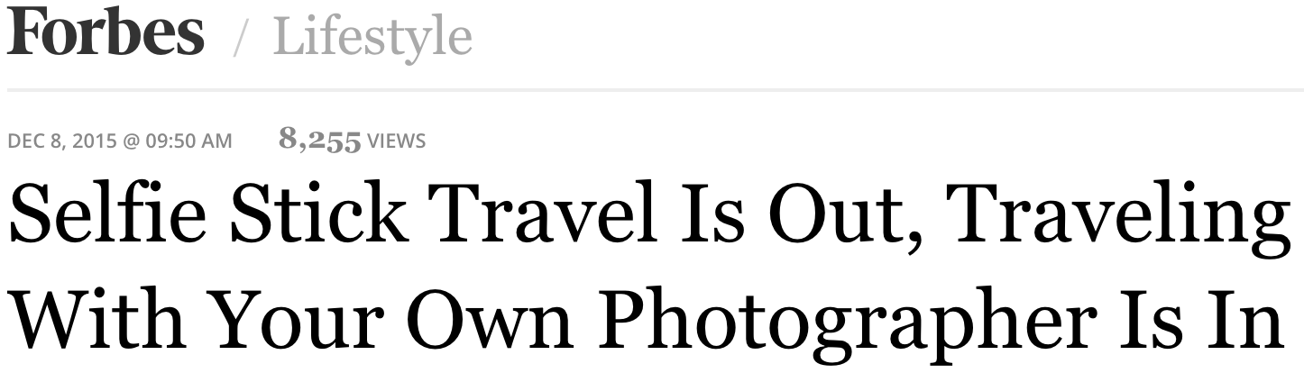 """"""" So while there's nothing wrong with capturing travel moments and sharing them with your online friends, just make sure that your experience was just as authentic as the photo you're sharing. And in the case of the photos from El Camino, what these travelers are experiencing is authentic and not a carefully contrived photo thanks to the help of a plastic extendable pole."""""""