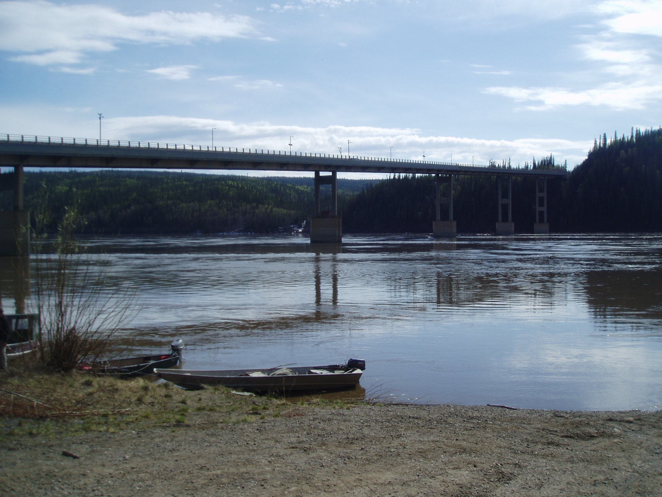 """Yukon River Overnight"" - We'll transport you to the mighty Yukon River. Stay at hotel or camp overnight. Arrive approx. 9:00 am. Depart the following day at approx. 7:00 pm."