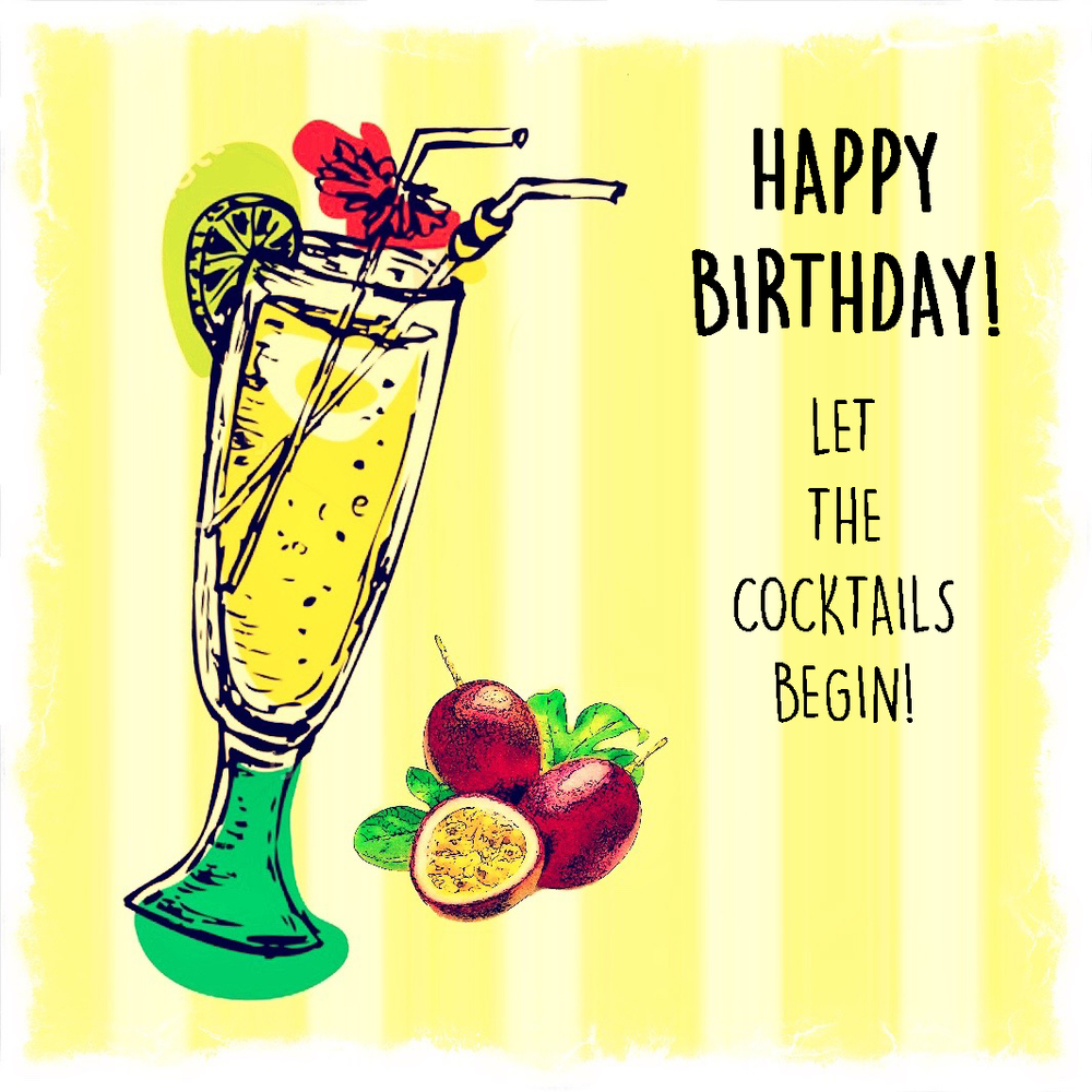 Happy Birthday Let The Cocktails Begin C 555 Paperlove Boutique