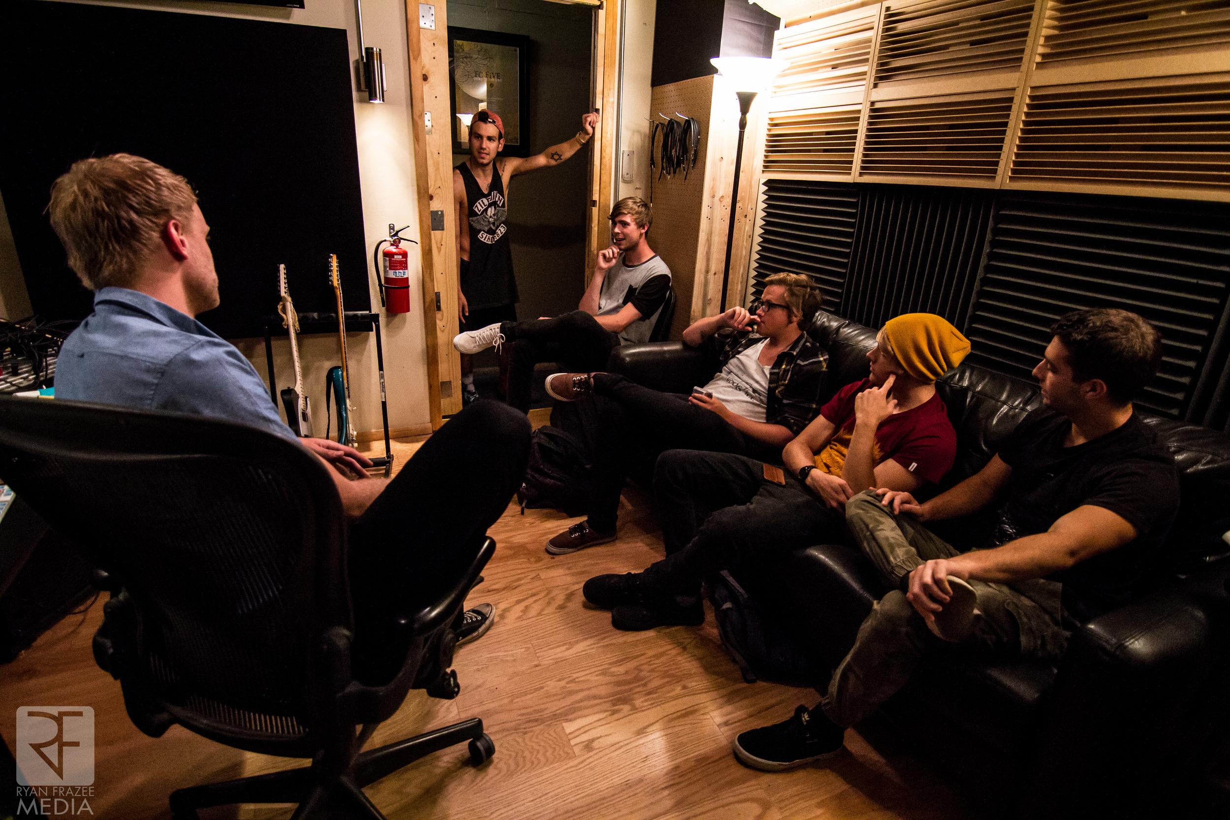 Talking through some of Ben's drum parts