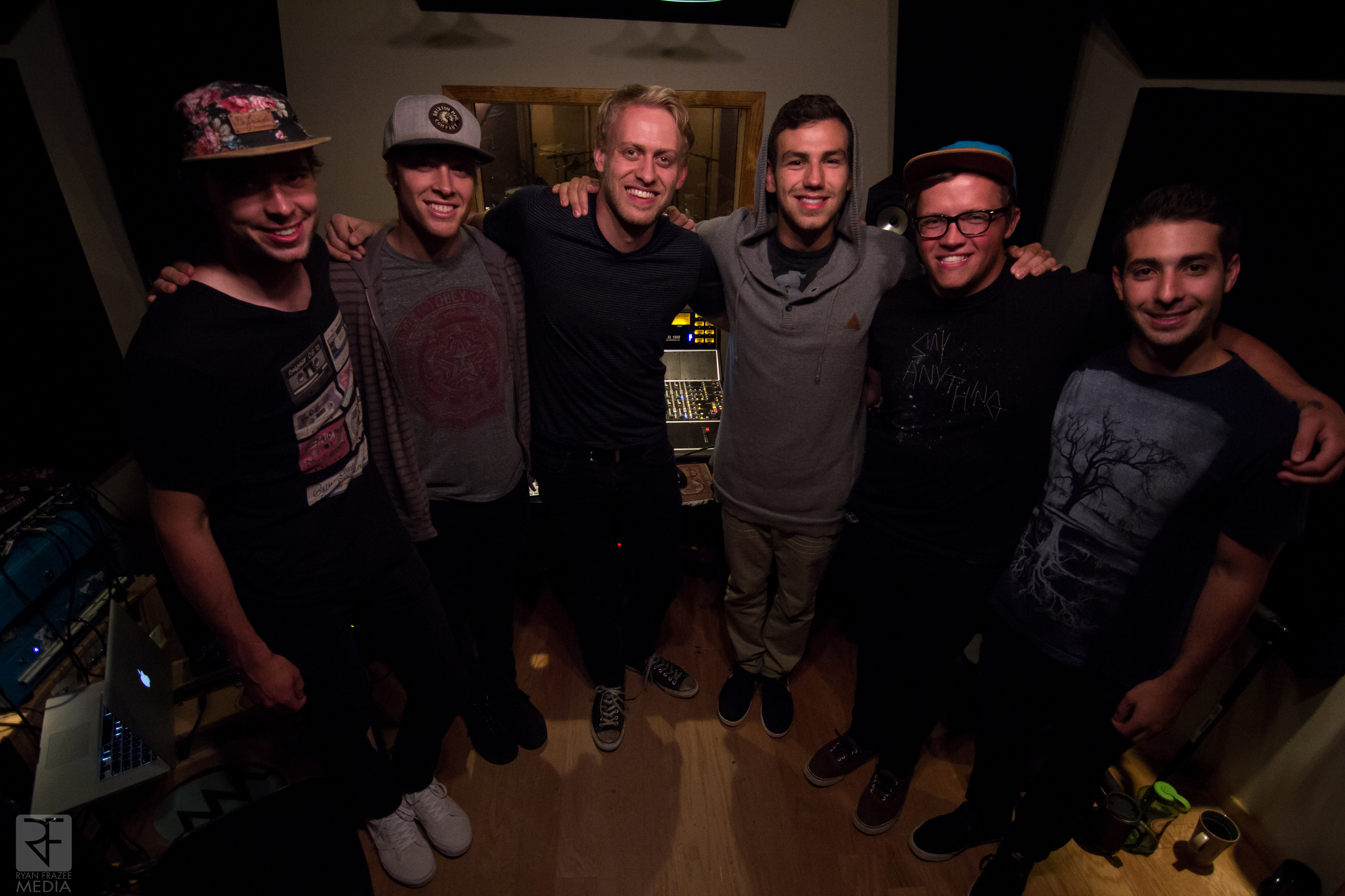 The guys with their engineer Chris Beeble.  Such a great guy and it was really fun to watch him work.