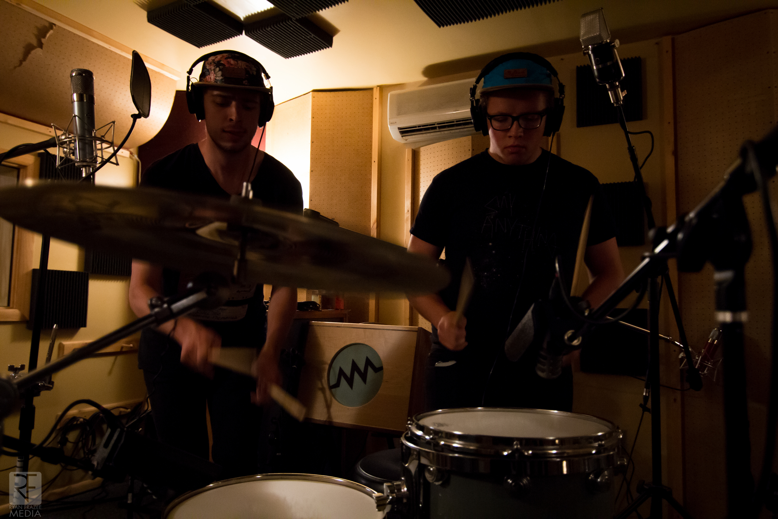 Tj and Josh doing some drum work