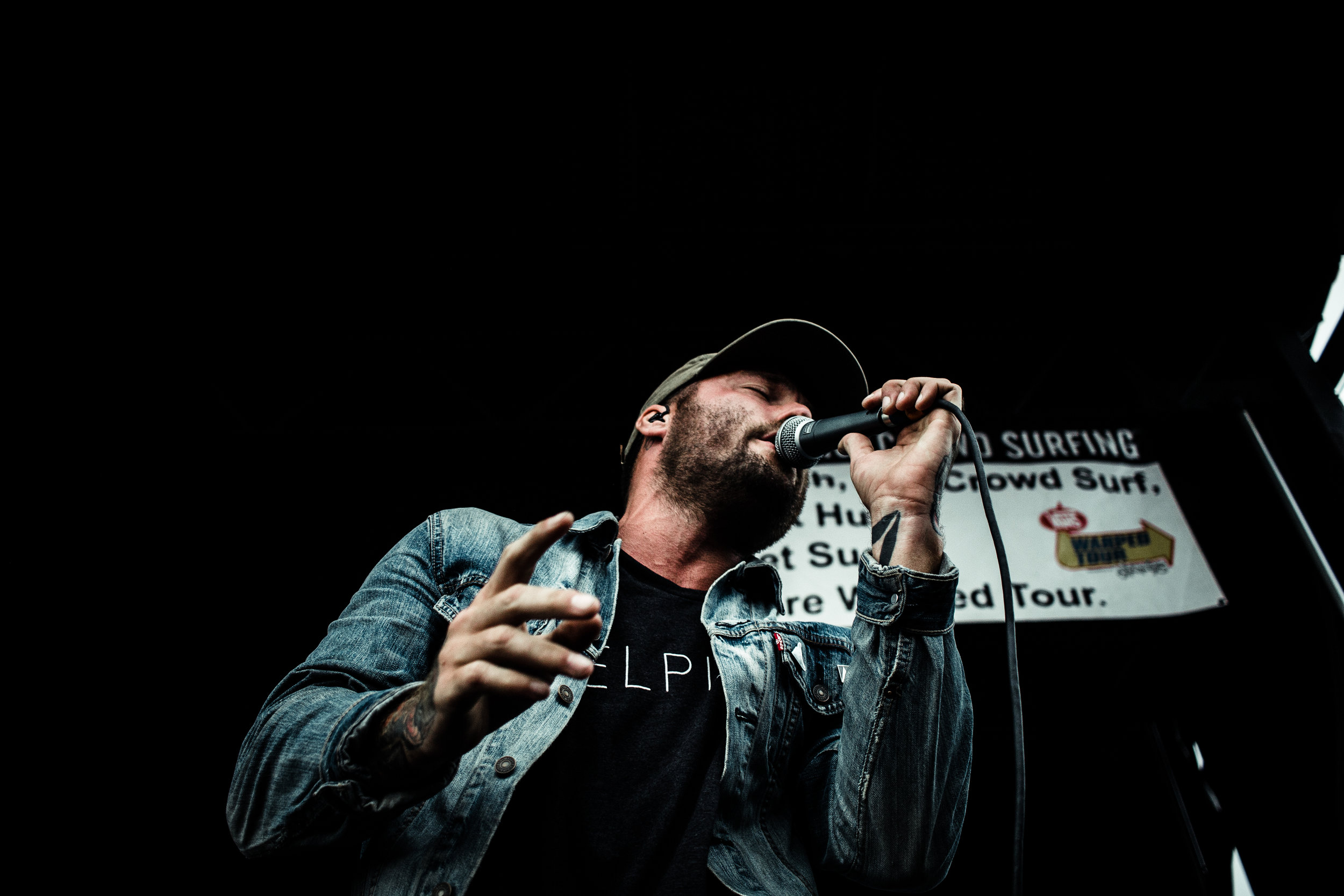 Unreleased shot of Emarosa at Warped.