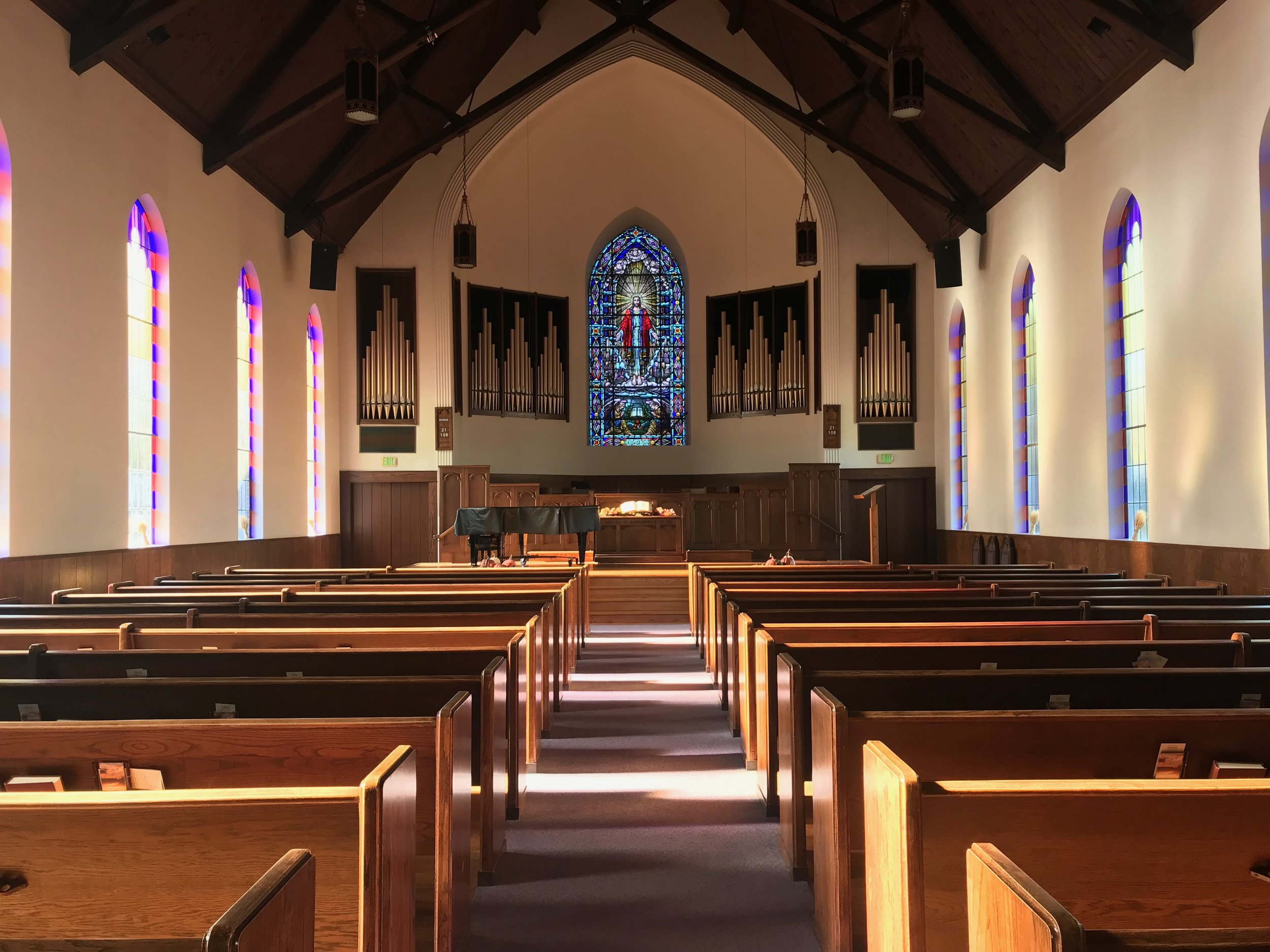 Our sanctuary was particularly beautiful this past Sunday afternoon.