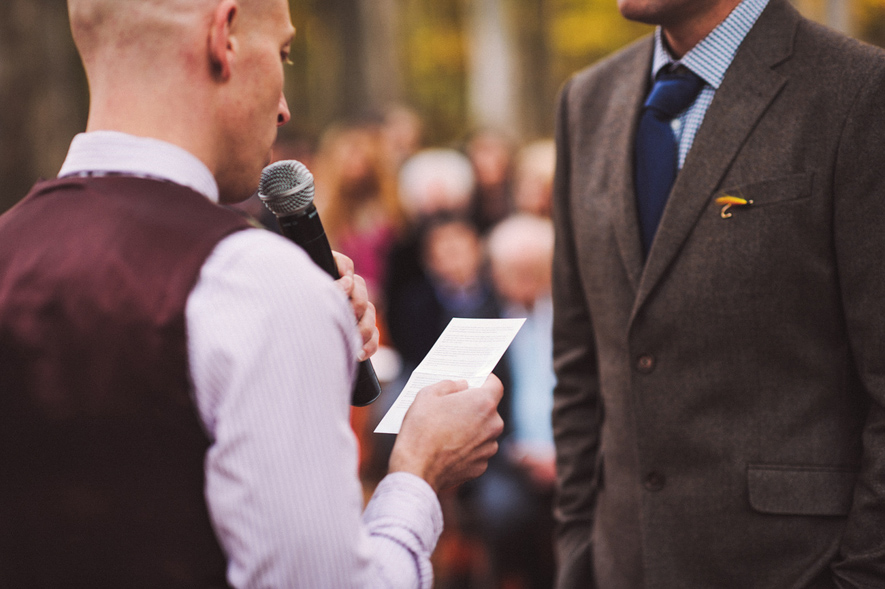 same sex wedding speech and suit by Ted Baker and D.S. Dundee.jpg