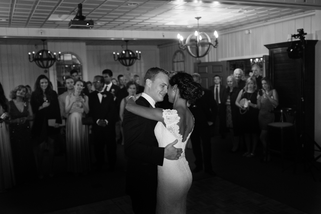 Classic first dance wedding image at Indian destination Manoir Hovey wedding.jpg