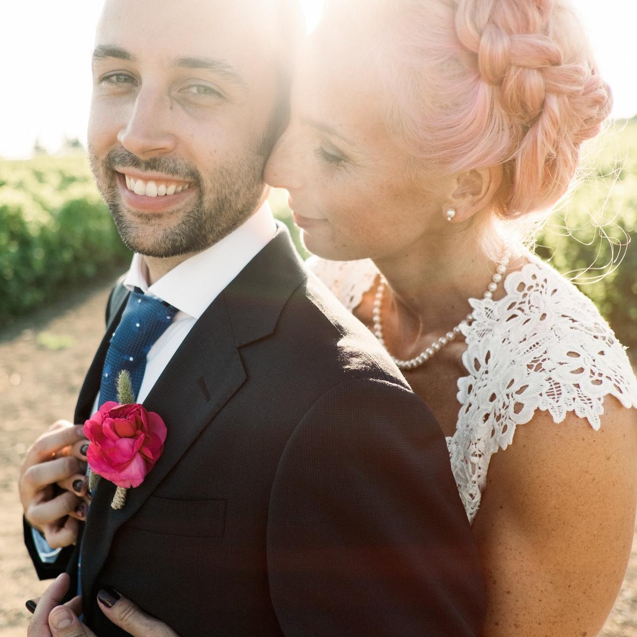 Romantic bride and groom Vignoble de L'Orpailleur wedding.jpg