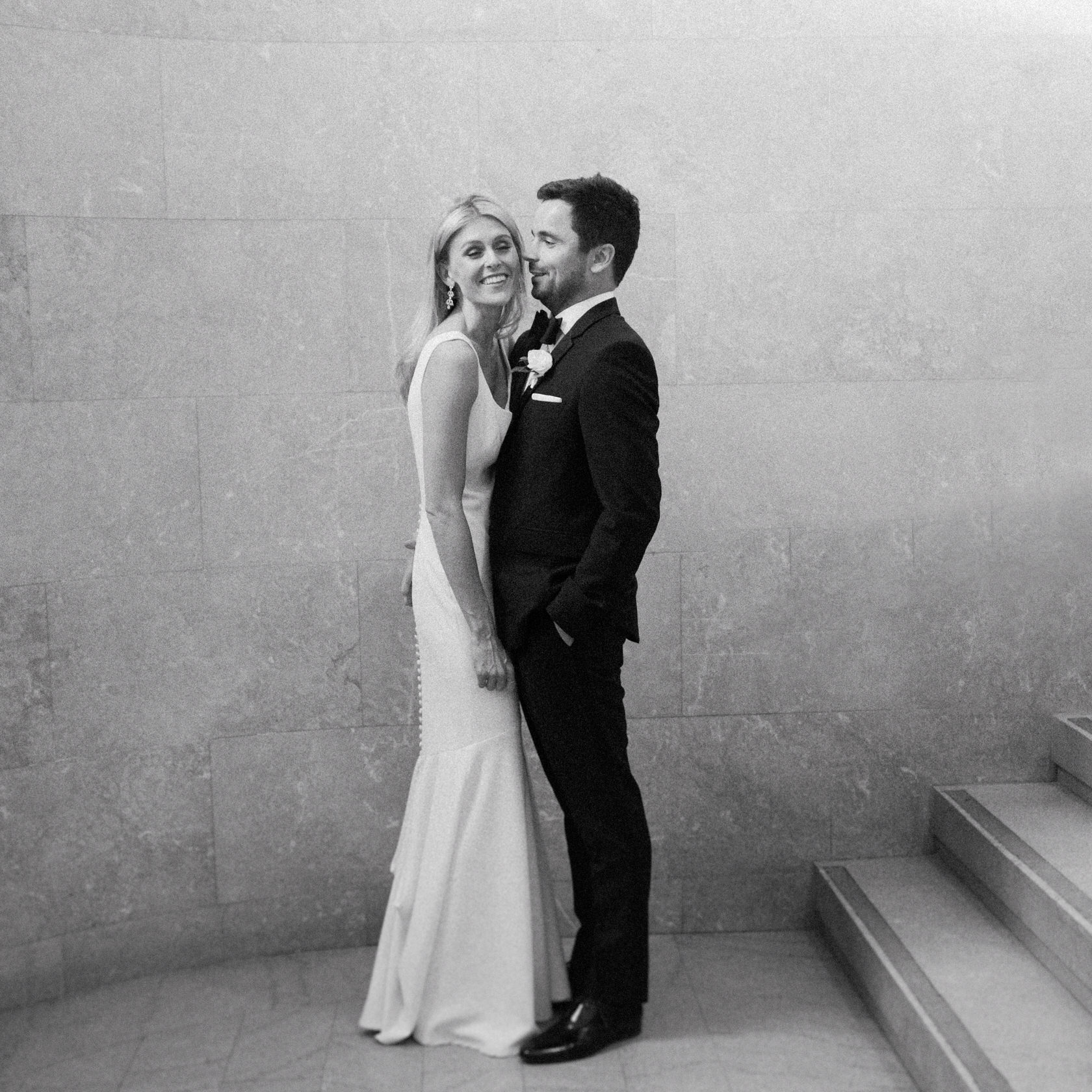 Montreal destination wedding classic black and white bride and groom wedding photos.jpg