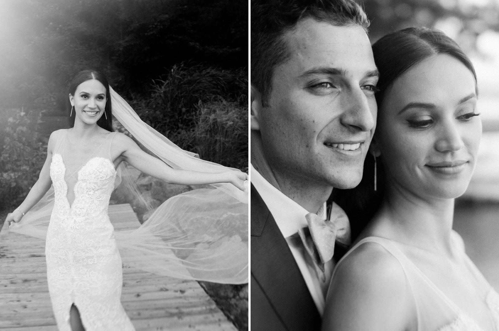 Manoir Hovey bride and groom portraits by the lake.jpg