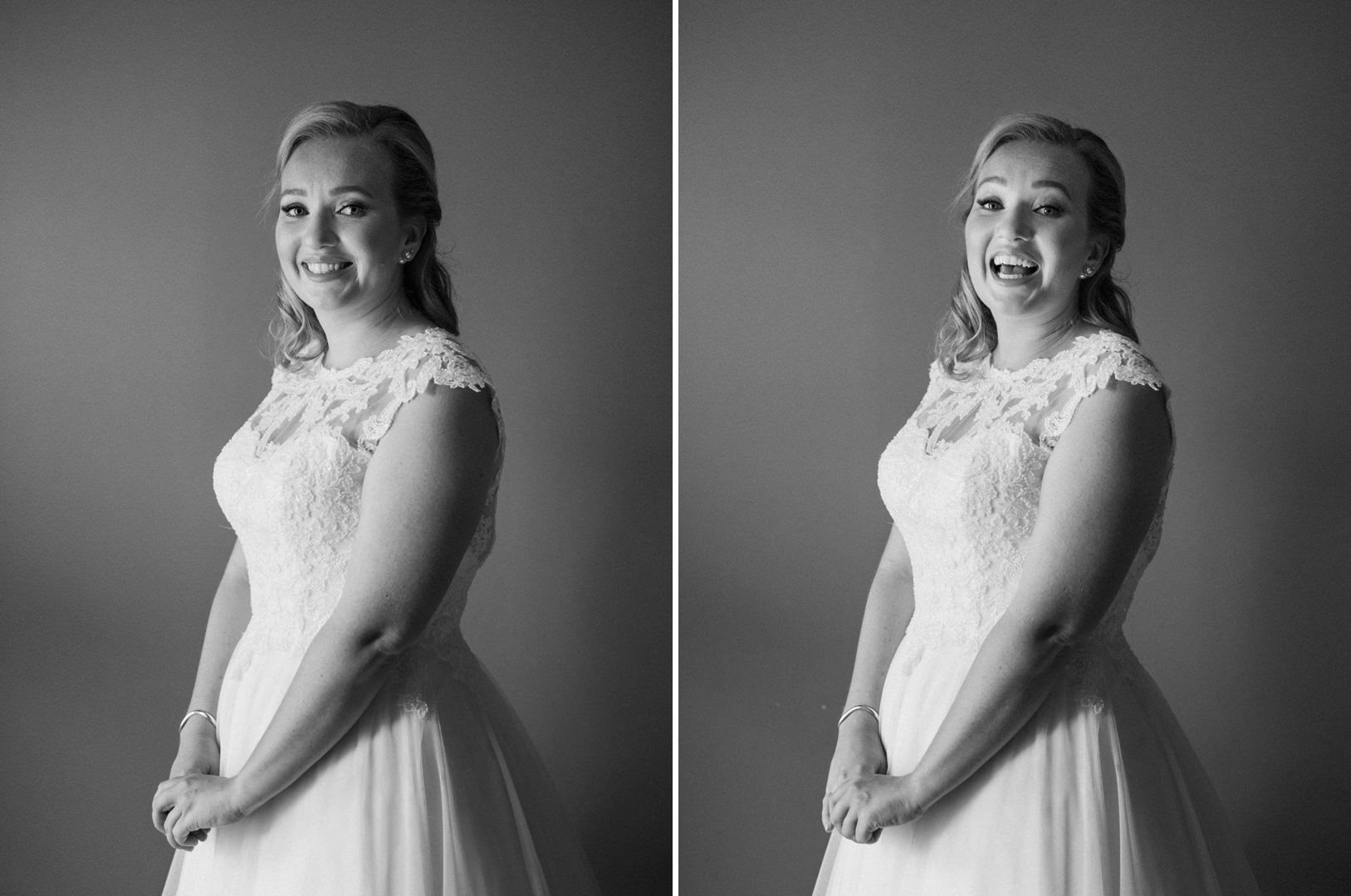 Windermere House bridal wedding dress portrait