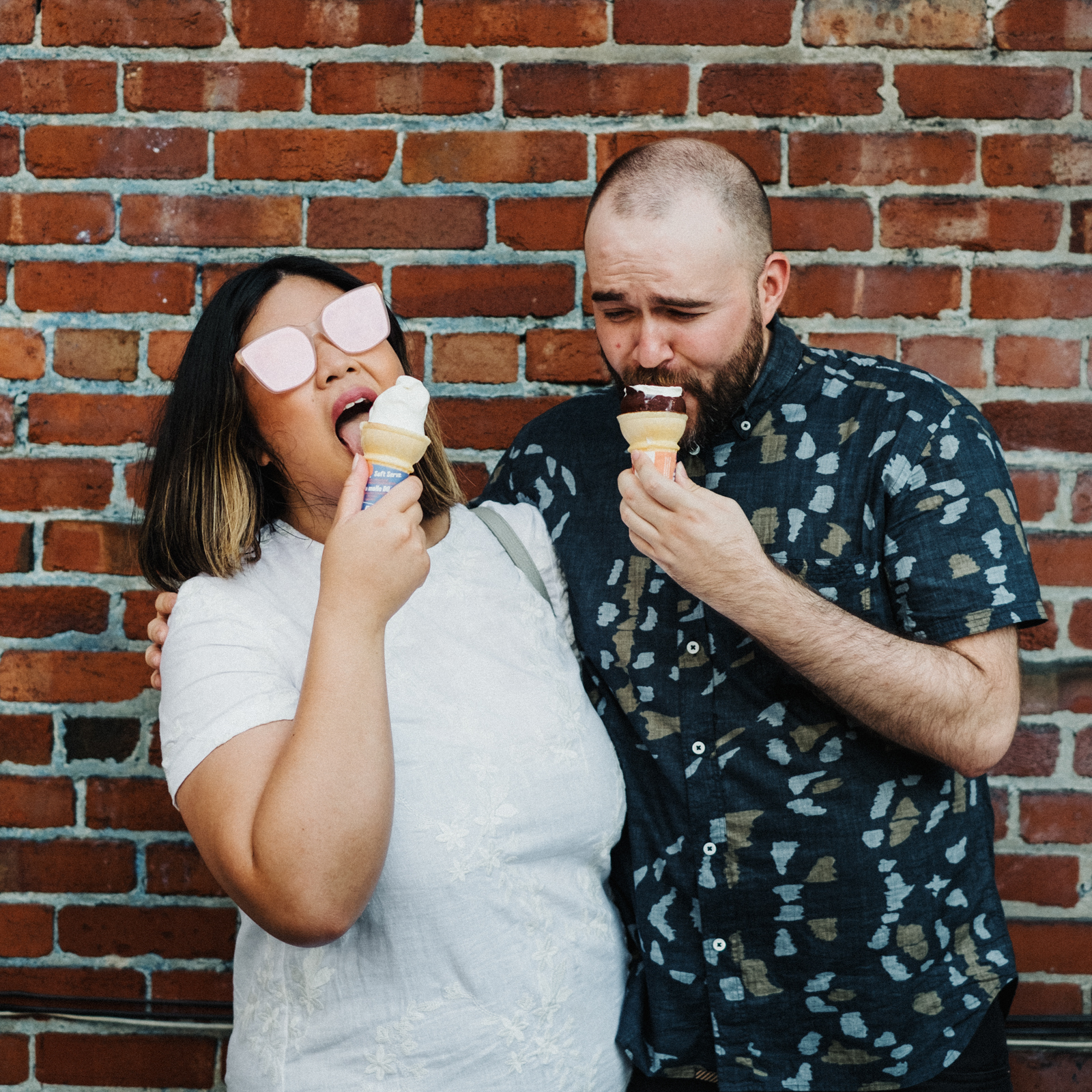 ice cream engagement session montreal | Montreal adventure session photos