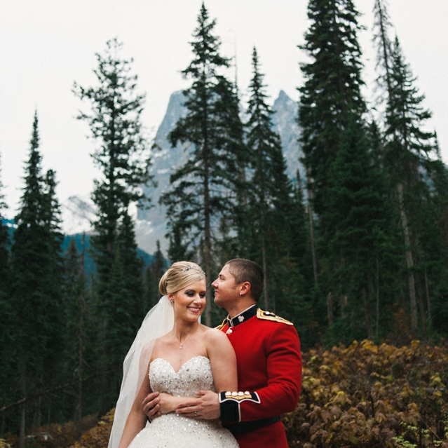 Ashley & Scott, Emerald Lake Lodge,Alberta
