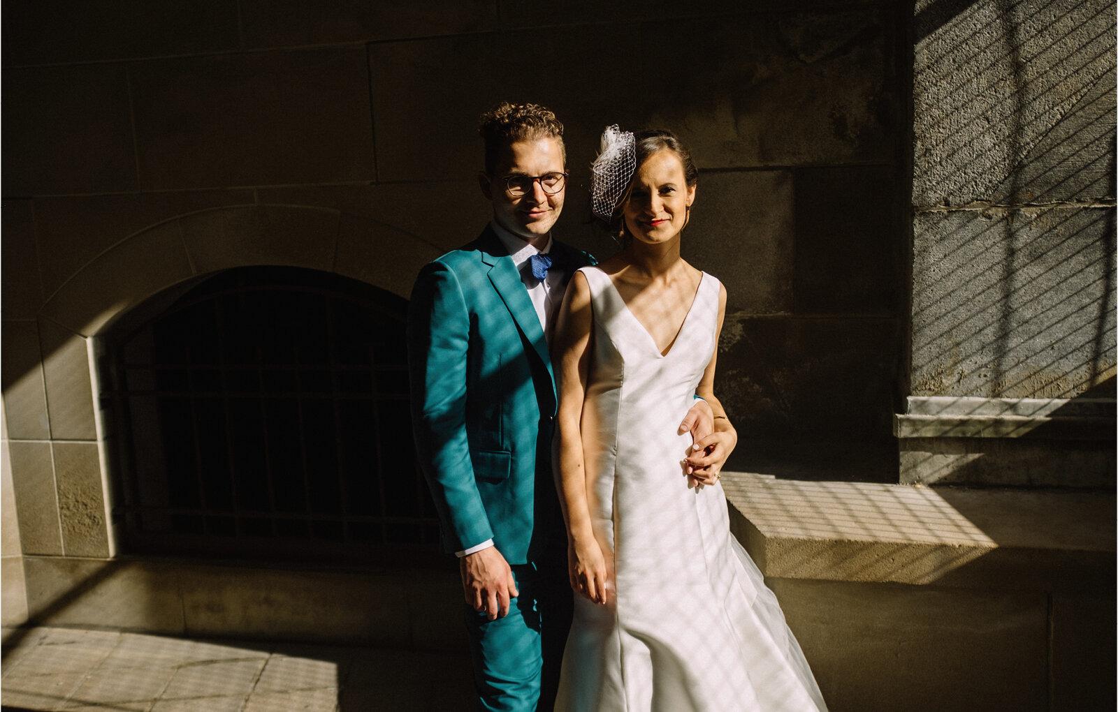 ottawa art gallery bride and groom wedding portrait