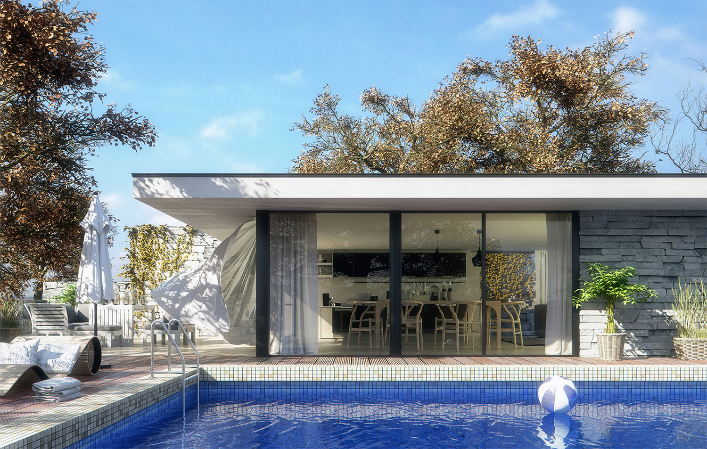 3D render design - exterior architecture 3