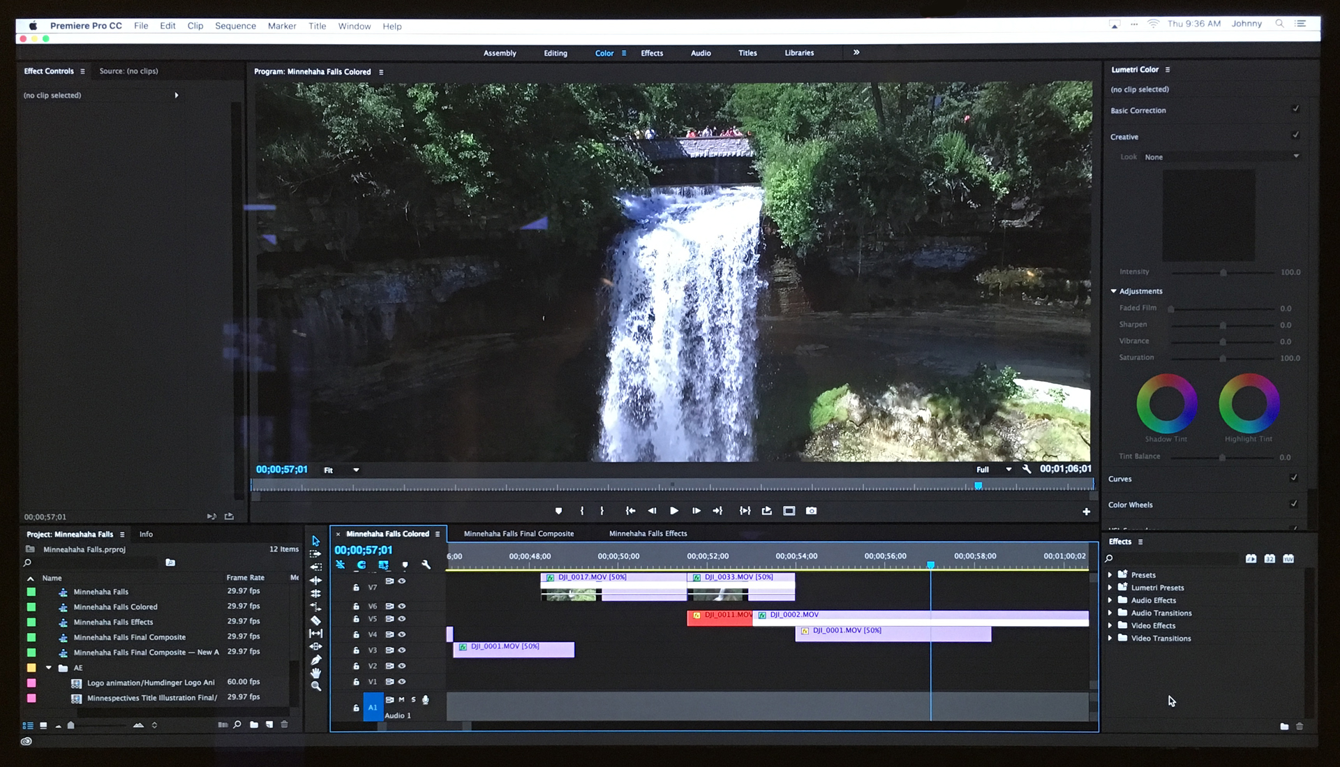 A peek into the magic that happens behind the scenes—coloring and editing the footage, clip by clip.