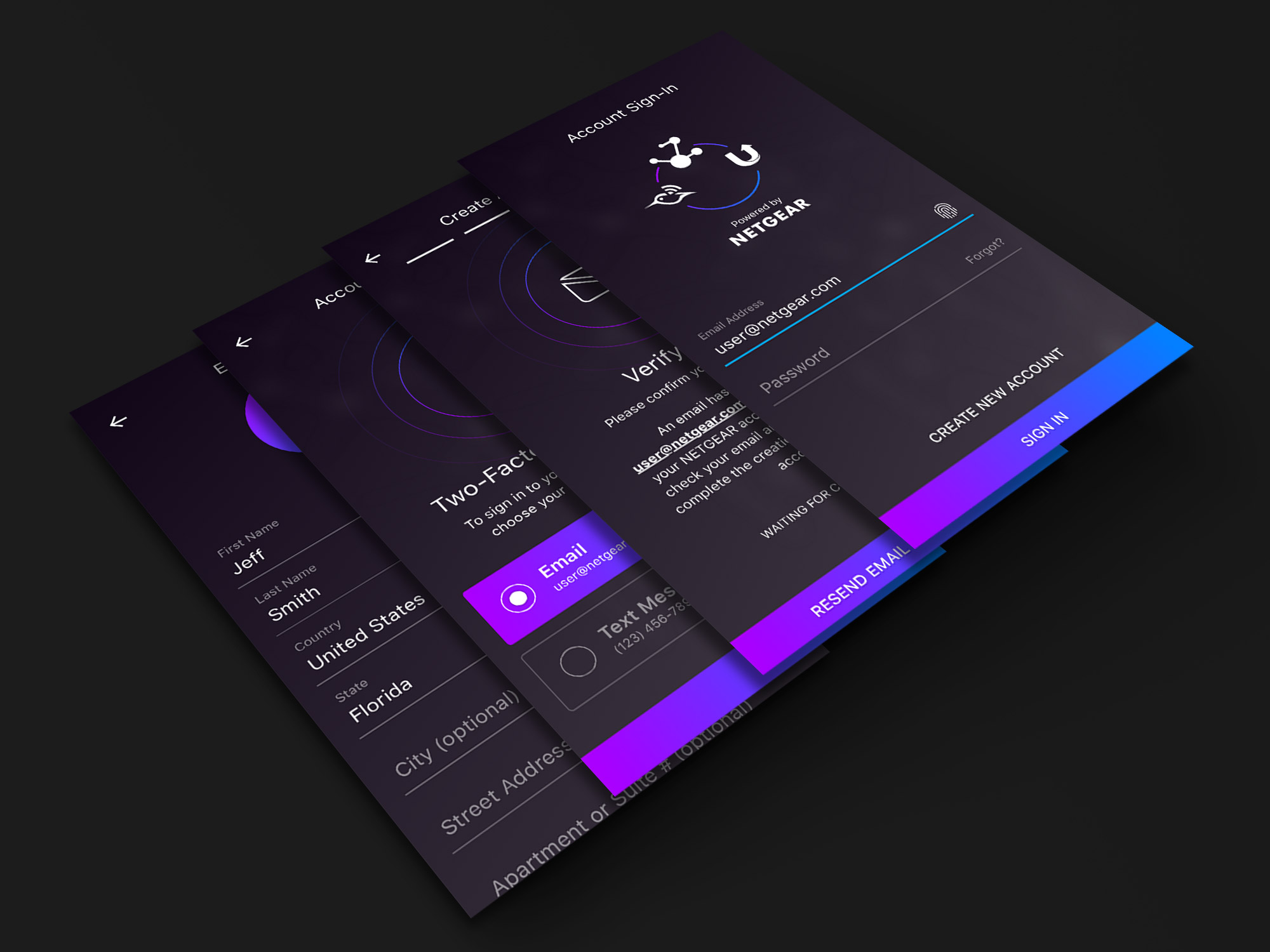 NETGEAR_App Design_Sign In