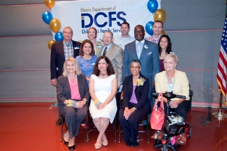 IDCFS 50th ANNIVERSARY CELEBRATION                            June 17, 2014 - We had the opportunity to attend an event to celebrate the 50th anniversary of the Illinois Department of Children and Families. Here is a photo of staff members with past IDCFS directors.photo credit: IDCFS
